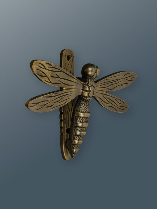 Brass Dragonfly Door Knocker - Bronze Finish - Shop unique door knocker, wreaths & Christmas gift cards online! Brass bee