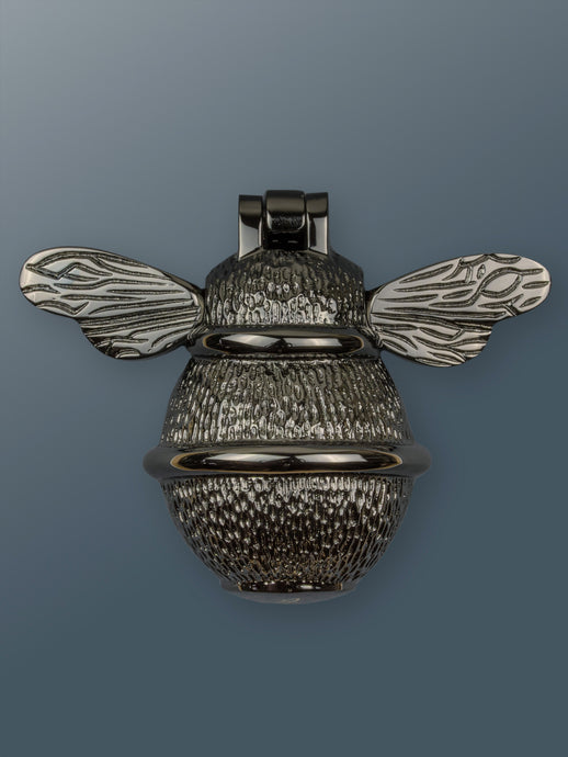 Brass Bumble Bee Door Knocker - Black Nickel Finish - Shop unique door knocker, wreaths & Christmas gift cards online! Brass bee