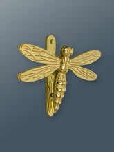 Load image into Gallery viewer, Brass Dragonfly Door Knocker - Brass Finish - Shop unique door knocker, wreaths & Christmas gift cards online! Brass bee