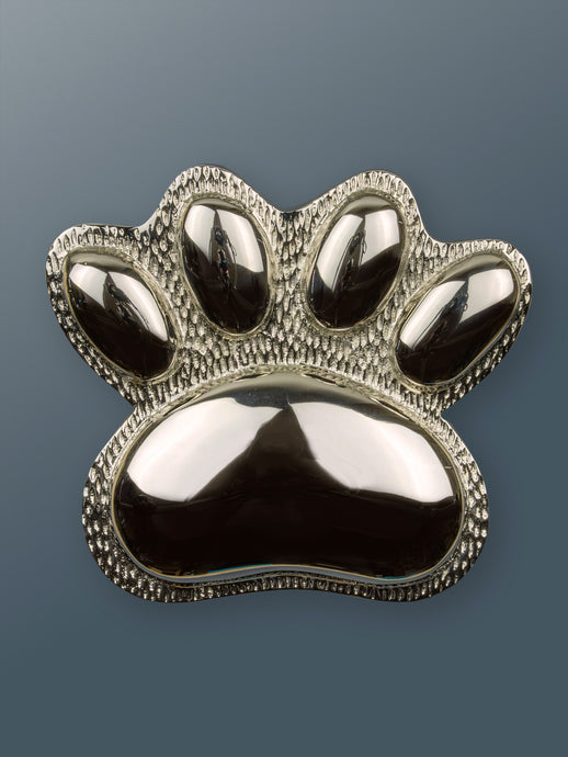 Brass Dog/Cat PAW Door Knocker - Nickel Finish - Shop unique door knocker, wreaths & Christmas gift cards online! Brass bee