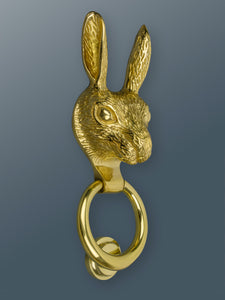 Brass Hare Door Knocker - Brass Finish - Shop unique door knocker, wreaths & Christmas gift cards online! Brass bee