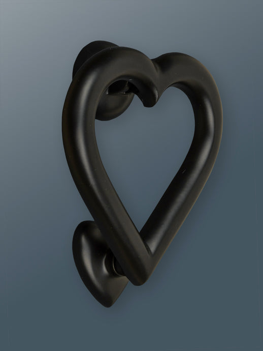 Brass Love Heart Door Knocker - Black Finish - Shop unique door knocker, wreaths & Christmas gift cards online! Brass bee