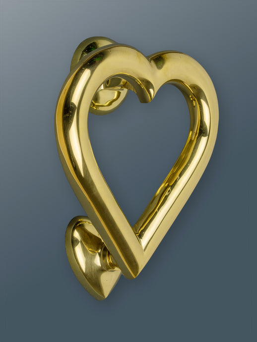 Brass Love Heart Door Knocker - Brass Finish - Shop unique door knocker, wreaths & Christmas gift cards online! Brass bee