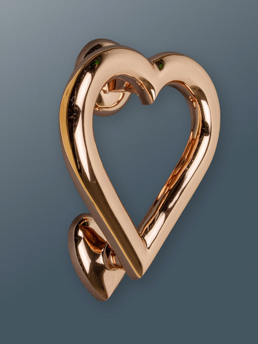 Brass Love Heart Door Knocker - Rose Gold Finish - Shop unique door knocker, wreaths & Christmas gift cards online! Brass bee