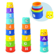 Figures Letters Foldind Stack Cup Tower