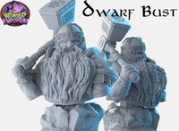 Dwarf bust Model for Painting and collections, Table top Games, Wargames DnD RPGs Warhammer