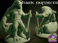 Sharkin Shark race pirates monsters for DnD RPGs Wargames tabletop games