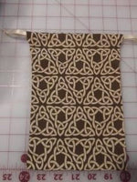 Brown Celtic Knotwork Drawstring Dice Bags Set of Three