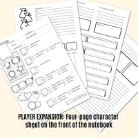 Campaign NOTEBOOK / Kraken / D&D or Tabletop RPG / Dotted, graph, or lined pages