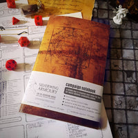 Campaign NOTEBOOK / Ancient Spellbook / D&D or Tabletop RPG / Dotted, graph, or lined pages