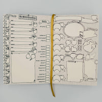 D&D 5e Character Tome / Notebook / Lined Dotted Hex Plain Pages / Calligraphy Friendly