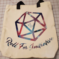Roll For Initiative Canvas Tote