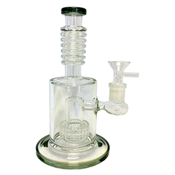 Glass Water Pipe Rigs W/Matrix Perk & Rings On The Neck