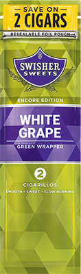 Swisher Sweets 2CT Cigarillos White Grape Foil Pouch