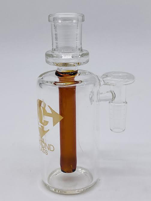 Diamond Glass 90° Ash Catcher W/1 Arms 14mm/14mm