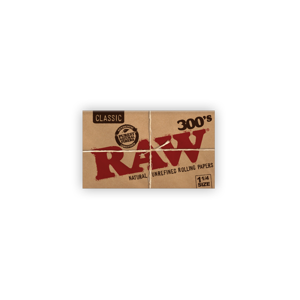 Raw 1.25 Classic Rolling Papers 300ct Pack