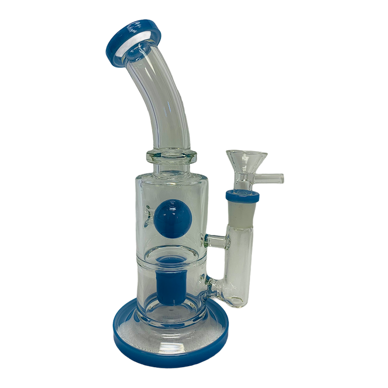 Glass Water Pipe Rigs Bend Neck W/Cup Perk & Ball