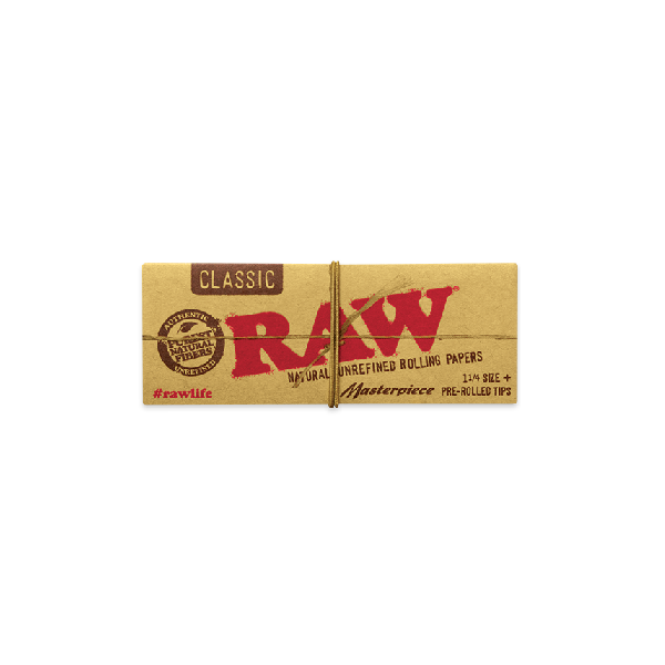 Raw 1.25 Classic Masterpiece Rolling Papers + Pre-Rolled Tips