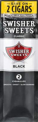 Swisher Sweets 2CT Cigarillos Black Foil Pouch