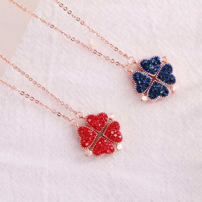 Magic Lucky Four Leaf Clover Necklace