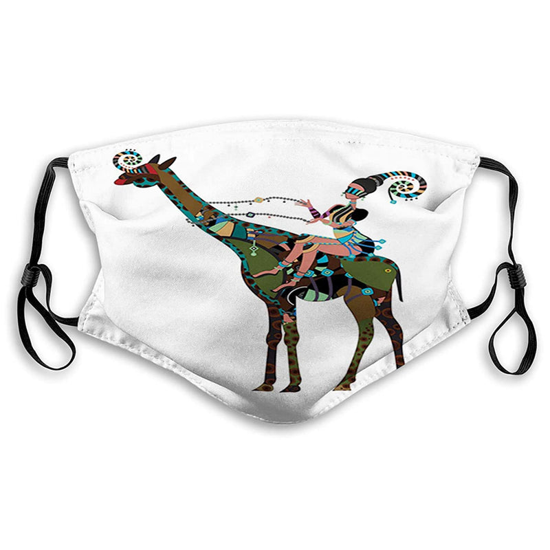 Masque protection réutilisable Girafe