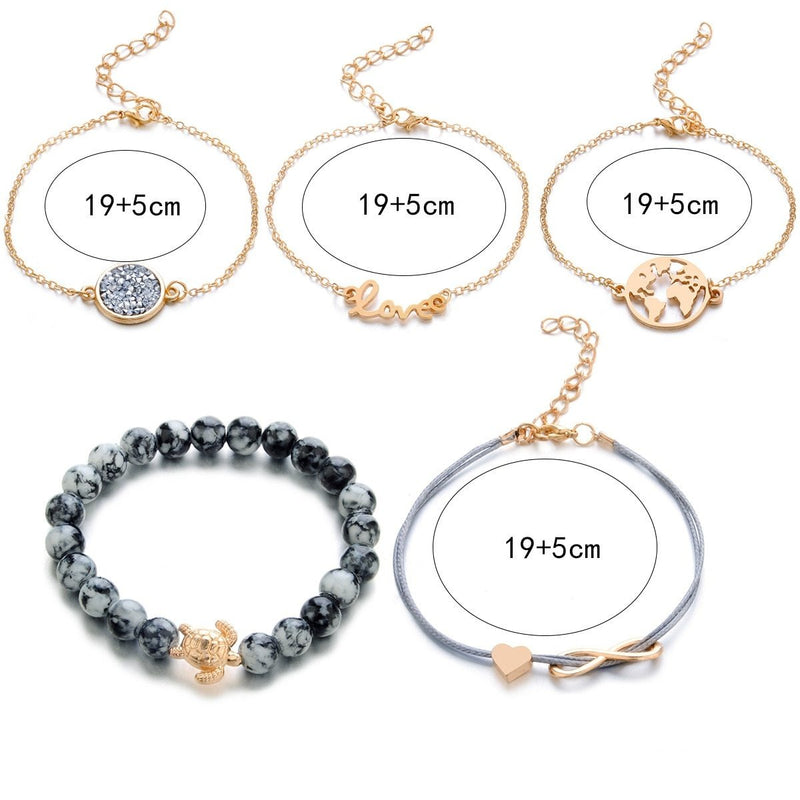 Ensemble de bracelets Earth Love - 5pc