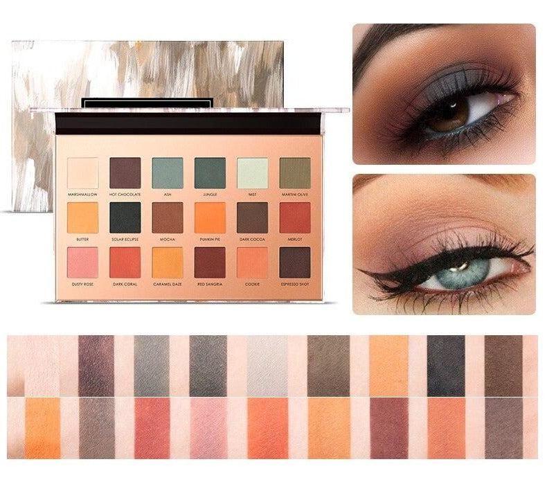 Palette maquillage yeux mat