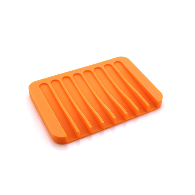 Porte savon silicone orange
