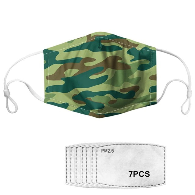 Masque de protection filtrant camouflage