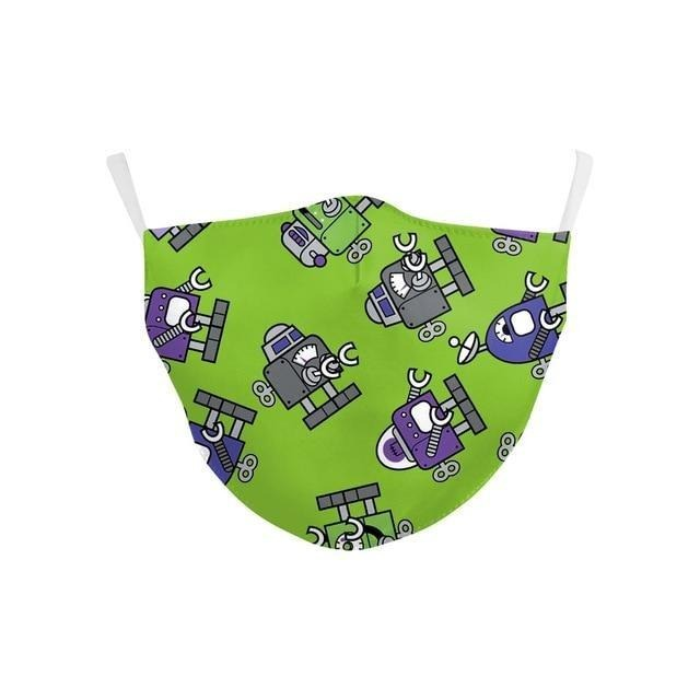Masque protection enfant robot