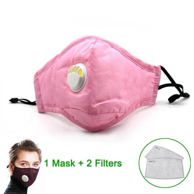 Masque de protection lavable rose