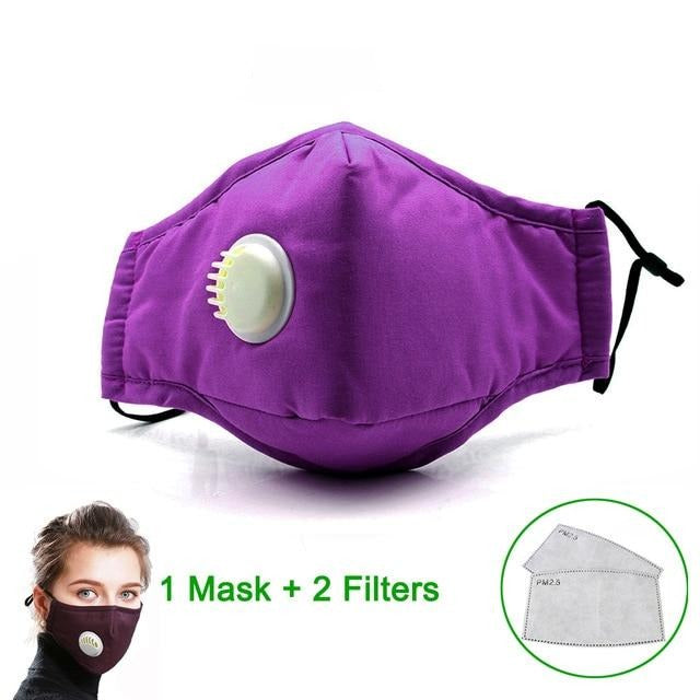 Masque de protection lavable violet