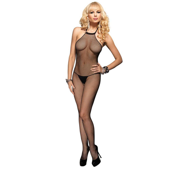 Leg Avenue Seamless High Neck Halter Bodystocking UK 8 to 14 - Sex Monster Sex Shop Online UK
