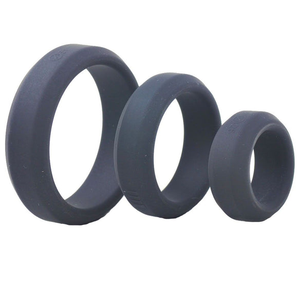 Triple Black Silicone Cock Rings - Sex Monster Sex Shop Online UK