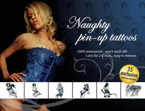 Tattoo Set Naughty Pin Up - Sex Monster Sex Shop Online UK