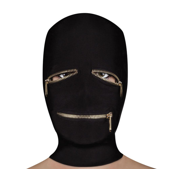 Ouch Extreme Zipper Mask With Eye And Mouth Zipper - Sex Monster Sex Shop Online UK