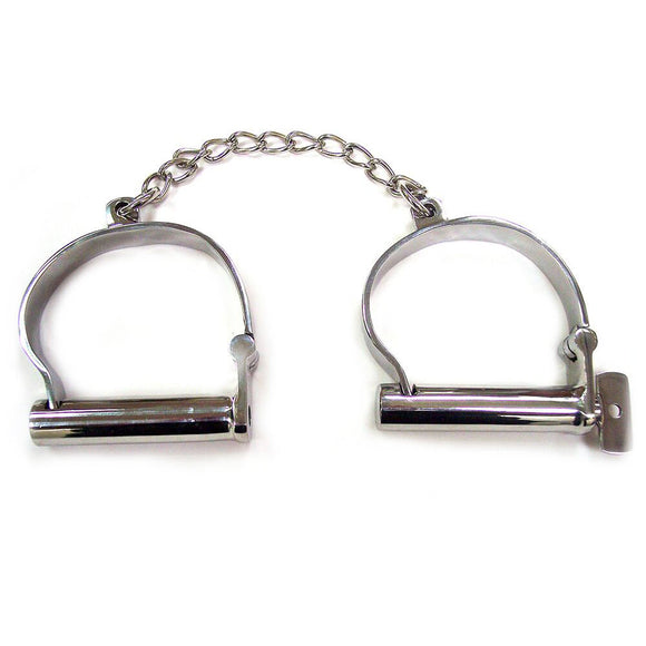Rouge Stainless Steel Ankle Shackles - Sex Monster Sex Shop Online UK