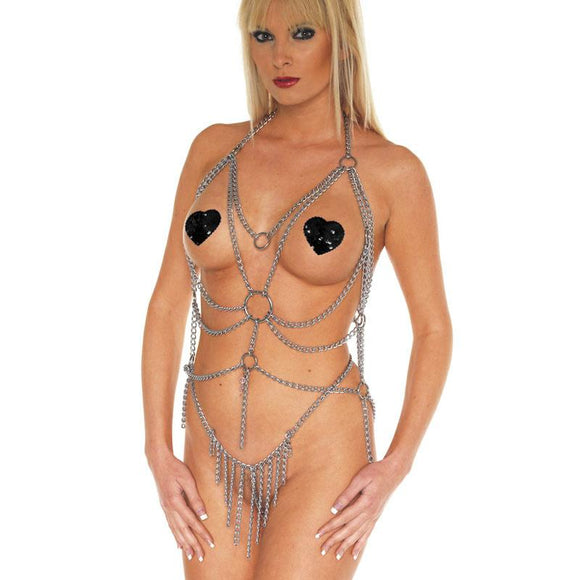 Top And Brief Chain Set - Sex Monster Sex Shop Online UK