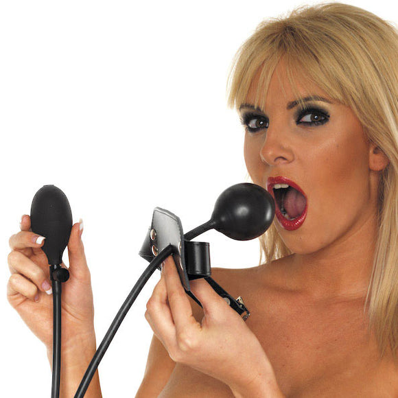 Leather Inflatable Gag - Sex Monster Sex Shop Online UK