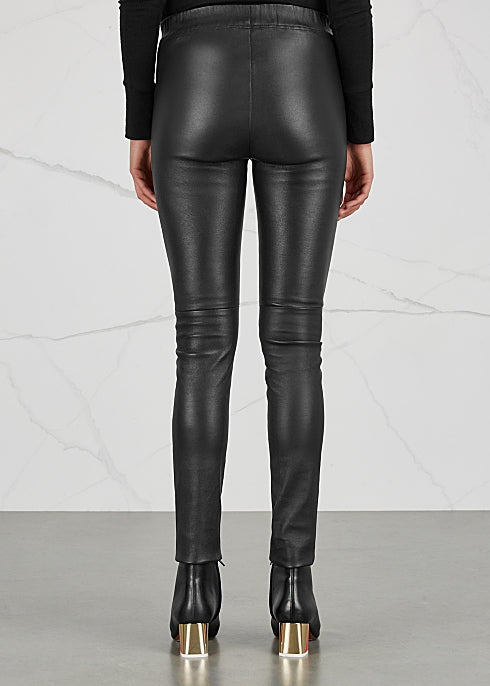 Dom Goor Leather Leggings Black