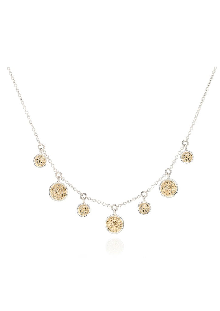 Anna Beck Short Mini Disc Charm Necklace