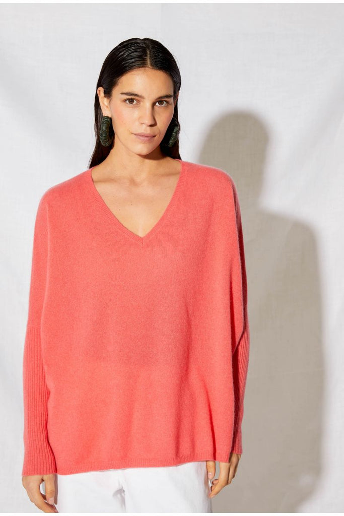 Not Shy Faustine Jumper  Coral