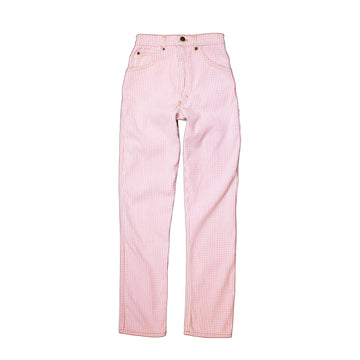 High Waisted Judi Jean   •  100% Cotton Bubblegum Gingham