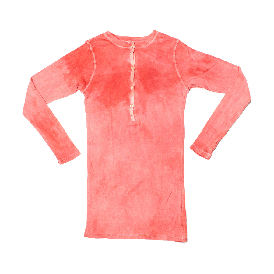 Plant Dyed Organic Cotton Henley • Clay Pink