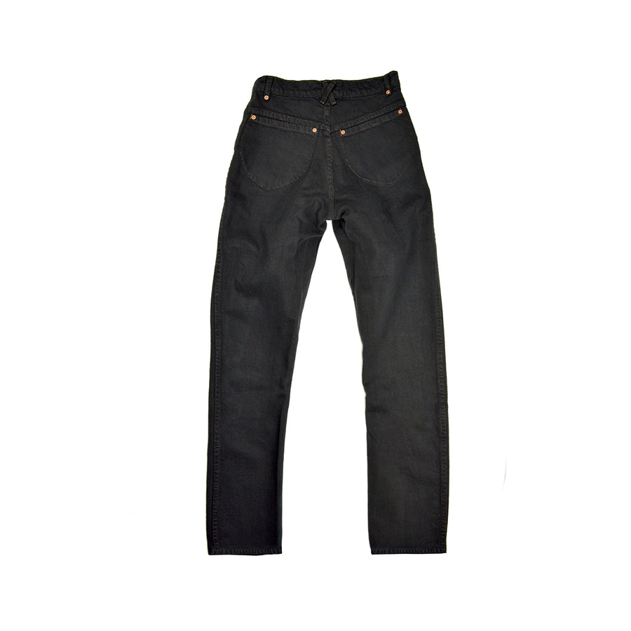 Straight Leg • 100% Cotton Black Denim