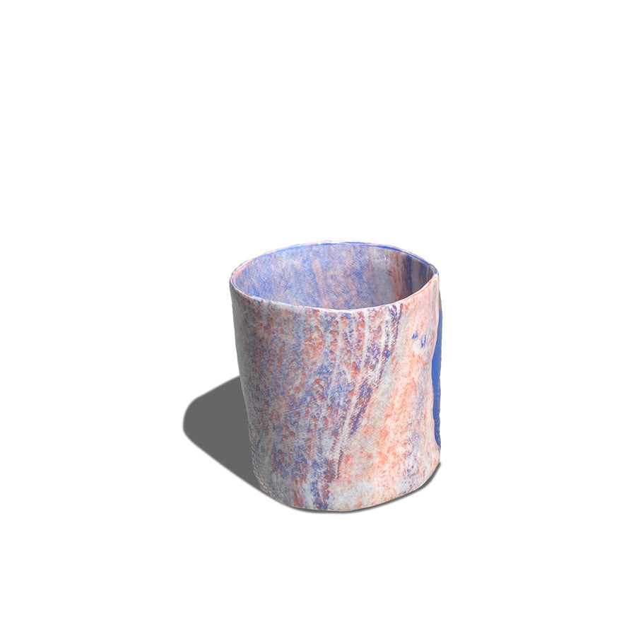 Porcelain Party Cups • Mauve & Periwinkle Marble