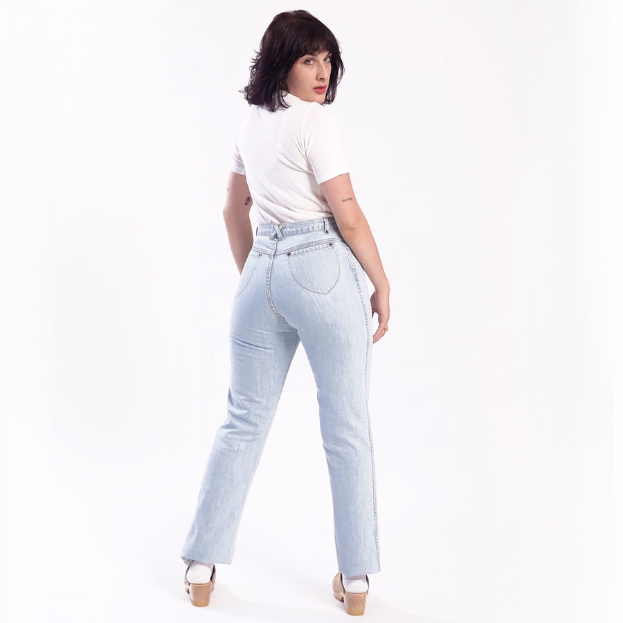 High Waisted Judi Jean  •  100% Cotton Super Sun Bleach Denim
