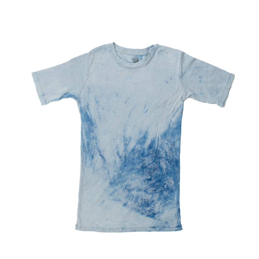Organic Cotton & Hemp Disco T •  Plant Dyed Indigo