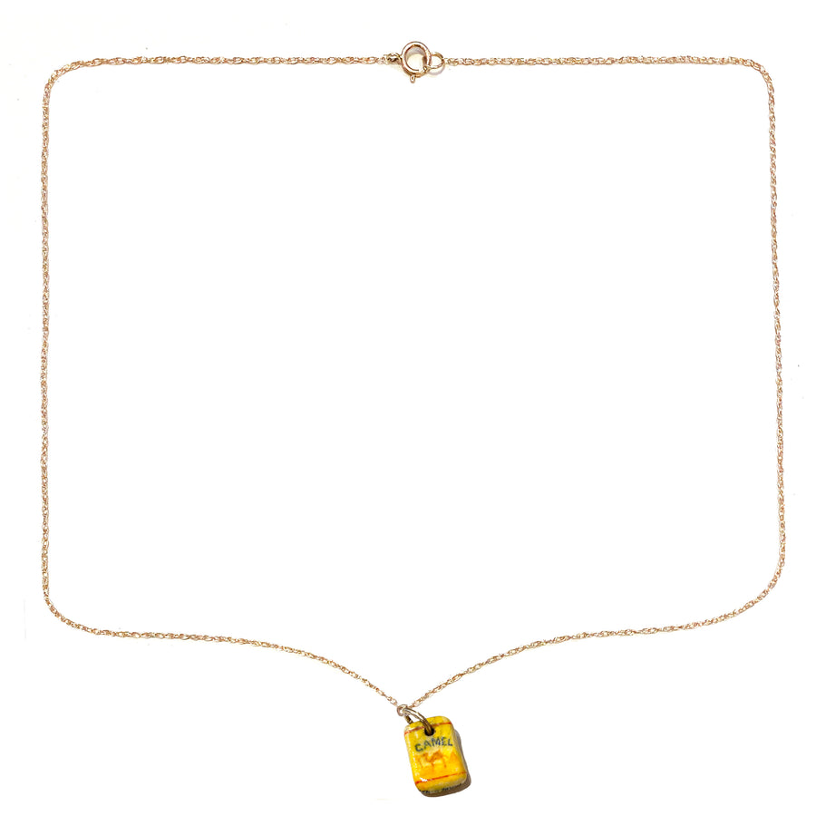 Teeny Tiny Box of Camels • 14kt Gold Chain