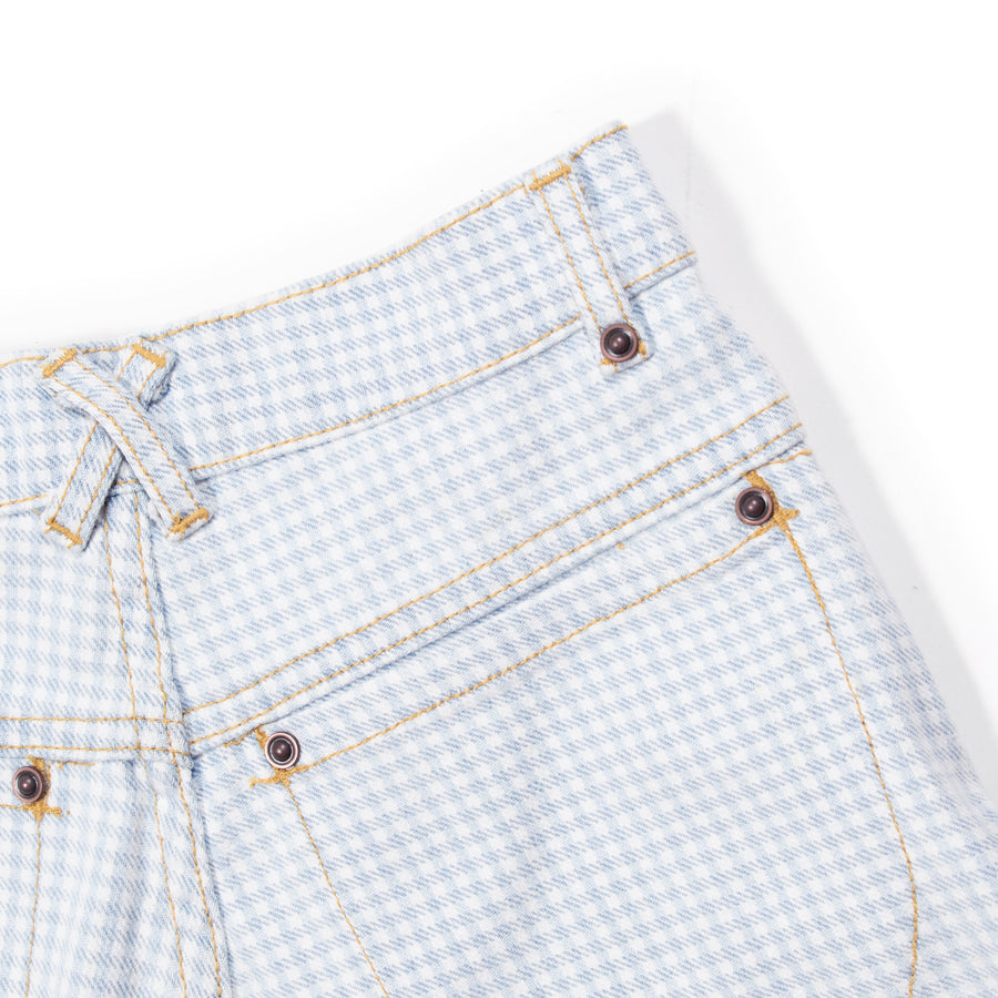 High Waisted Judi Jean   •  100% Cotton Baby Blue Gingham
